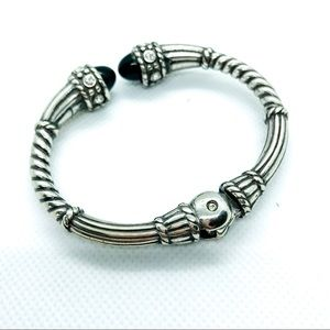 Jewelry - Black and silver cuff hing bracelet
